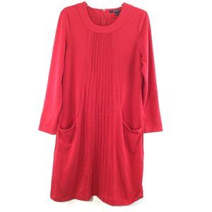 Chadwicks gathered front pocket long sleeves dress